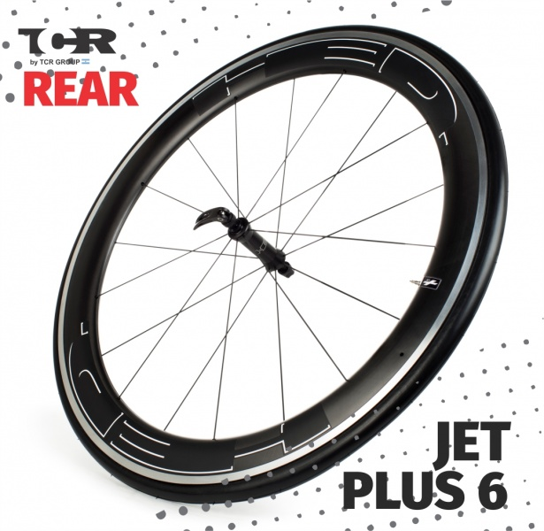 HED Jet 6 Plus Series Front Wheel - Clincher/Delantera