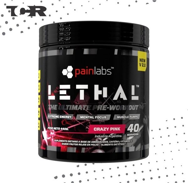 'Pre-Workout Lethal V2.0 - Painlabs - Sabor Crazy Pink
