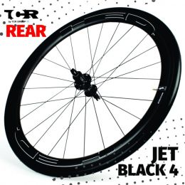 HED Jet 4 Plus Black Serie  Rear Wheel - Clincher/Trasera