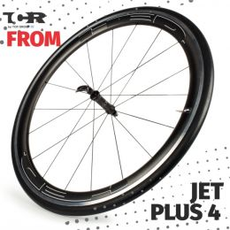 HED Jet 4 Plus Series Front Wheel - Clincher/Delantera